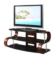curved wooden walnut veneer lcd tv stand 8642 furniture in