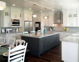 kitchen modern kitchen design with white bellmont cabinets and