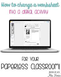 change a worksheet to a digital activity google classroom