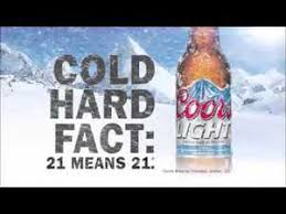 coors light cold hard facts branding the creative spin the creative spin