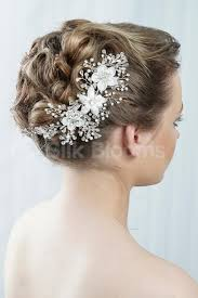 flowers for hair white flower for hair wedding shop beautiful deco high quality
