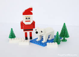 how to build a lego santa and ornaments