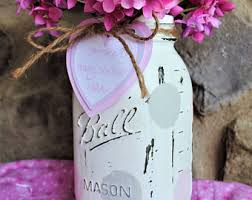 Ball Jar Centerpieces by Mason Jar Baby Shower Centerpieces Shabby Chic Painted