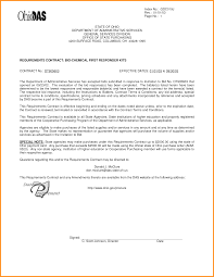 Bio Letter Sample 11 Contract Award Letter Cook Resume