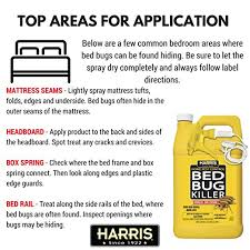 I Found A Bed Bug Now What Amazon Com Harris Bed Bug Killer Liquid Spray With Odorless And