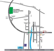 Greater Noida Metro Map by Aarcity Moon Towers In Knowledge Park V Noida Price Location