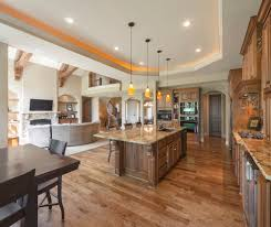 kitchen and family room ideas wonderful open concept kitchen living room ideas with brown floor