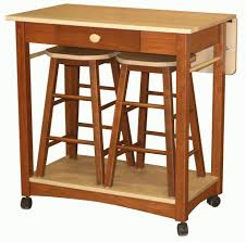 peerless mobile kitchen island breakfast bar with drop leaf table