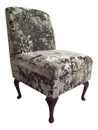 Bedroom Chair Bedroom Chair In Dream Grey Soft Crushed Velvet Fabric On Queen