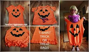 halloween bags for trick or treating diy t shirt trick or treat bags the mom initiative