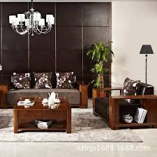 Corner Wooden Sofa Chinese Wood Coffee Table Corner Sofa Combination Agile Exchange