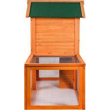 Advantek Stilt House Rabbit Hutch Amazon Com Merax Natural Wood Color Wooden Pet Rabbit Hutch House