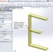 make a single body with multiple open contours in solidworks 2013