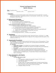 formal lab report template 8 9 formal lab report kfcresume