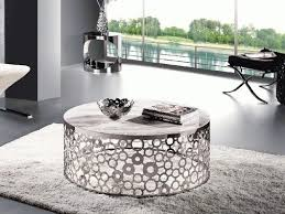 Circle Glass Coffee Table Best Coffee Table Silver Circle Set Within Stylish River