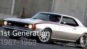 chevy camaro through the years through the years chevrolet camaro