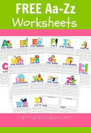 free a to z worksheets so pretty and a nice download toddlers
