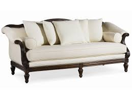 Thomasville Patio Furniture Replacement Cushions by Thomasville Sorrento Classic Single Seat Sofa With Shaped Back