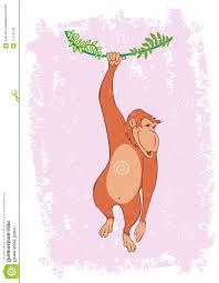 unique monkey hanging tree vine illustration photos