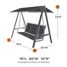 Outdoor Patio Swing by Patio Swing Cover Premium Waterproof Ravenna