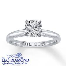 leo engagement rings the leo 1 carat solitaire ring 14k white gold