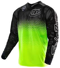 jersey motocross troy lee designs se air starburst jersey yellow black motocross
