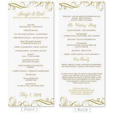 wedding program templates wedding program template instantly edit yourself