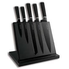 set couteau de cuisine bloc aimanté noir 5 couteaux noir anti adhérent achat vente