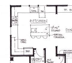 plans for kitchen islands kitchen island floor plan best 10 kitchen floor plans ideas on