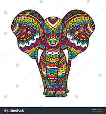 decorative elephant illustration indian theme ornaments stock