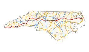 North Carolina Map Of Cities And Towns U S Route 64 In North Carolina Wikipedia
