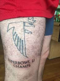 jinxed atlanta fan gets falcons super bowl li champs tattoo