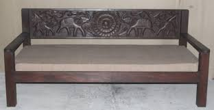 elephant carving indian daybed u0026 mattress eastern delights