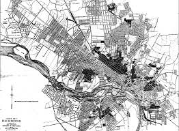 Virginia Map Of Cities by Richmond Population Distribution By Race 1923 Church Hill