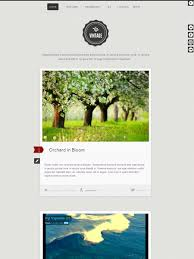 vintage joomla template for style blog with responsive design