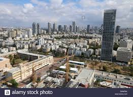 aerial photography of downtown tel aviv israel stock photo