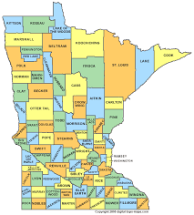 counties map minnesota county map mn counties map of minnesota
