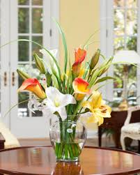 Artificial Floral Arrangements Shop Orange Silk Flower Arrangements At Officescapesdirect