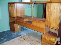 wall unit bedroom sets sale all oak bedroom wall unit with tv stand and 27 zenith tv meadville