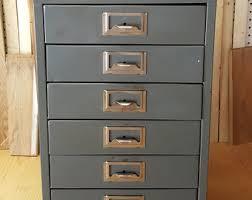 Vintage Metal File Cabinet Filing Cabinets Etsy