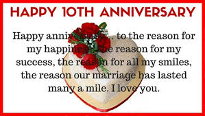 Wedding Day Wishes For Husband 10th Anniversary Wishes Wishes Greetings Pictures U2013 Wish Guy