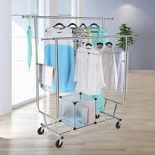 heavy duty double garment rack heavy duty commercial grade