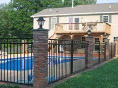 Backyard Pool Fence Ideas Inground Pools Pool Shapes Pool Ideas Pinterest Pool