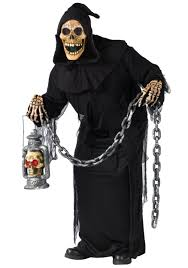 skeleton ghoul costume mens scary grim reaper costumes