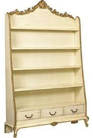 bookcase french heritage maison muse ivory victorian bookcases