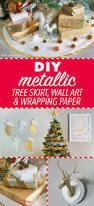 diy metallic christmas tree skirt wall art u0026 wrapping paper