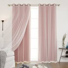 Purple Nursery Curtains by Amazon Com Best Home Fashion Mix U0026 Match Tulle Sheer Lace