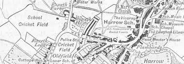 london harrow on hill sketch map 1898