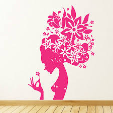 flower girl wall stickers by parkins interiors flower girl wall stickers