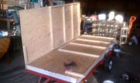 Diy Hard Floor Camper Trailer Plans Homemade 4x8 Trailer Similiar To Teardrop Expedition Portal
